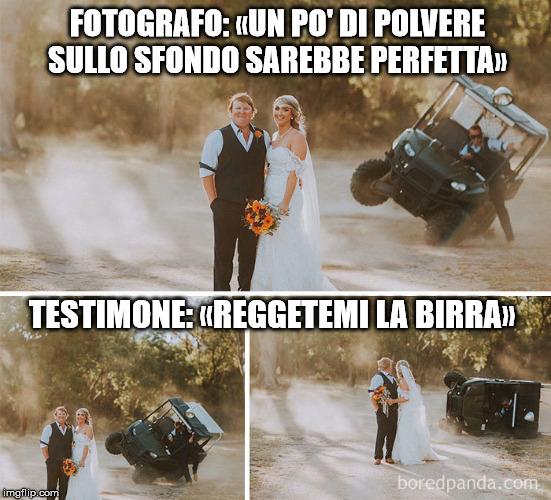 meme matrimonio fotografo testimone